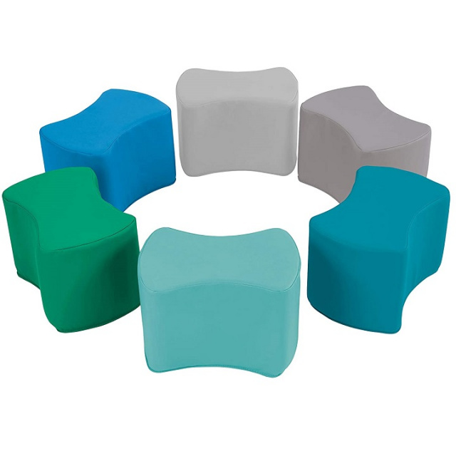 10442-CT Butterfly Stool Modular 10 inch Seating Set 6 Pack contemporary