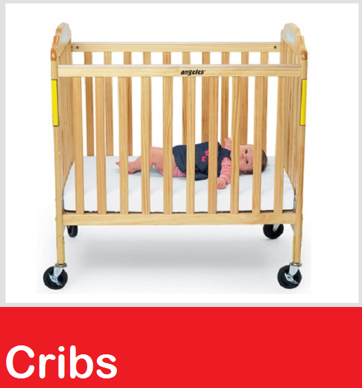 Cribs, Double Decker Cribs, Folding Cribs, Full Size Cribs, Compact Cribs, Crib Mattress, Crib Sheets, Commercial cribs, Daycare cribs, Crib