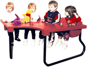 4 seat jr table toddler tables