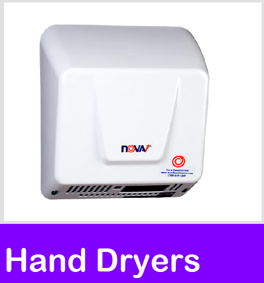 Hand Dryers, FastDry Automatic, Nova, Plug in Hand dryers, Wall Mount Air Dryer